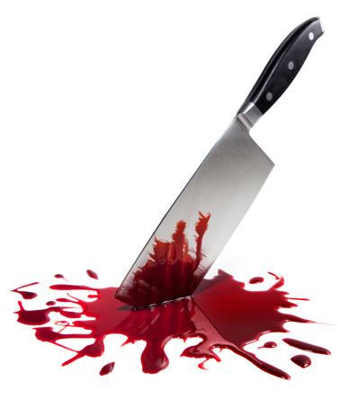 Blade「Bloody Butcher Knife on White」:スマホ壁紙(1)