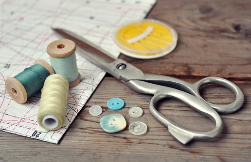 Cloth pattern「Sewing items」:スマホ壁紙(14)