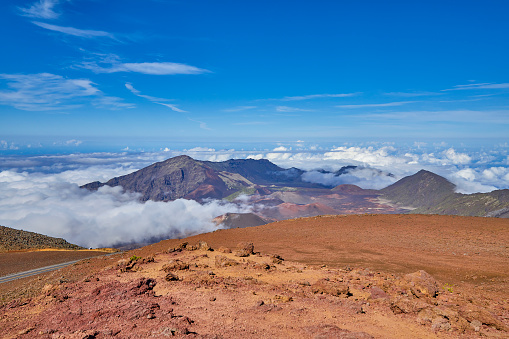 Pukalani「Inside the Haleakala Peak Crater at Haleakala National Park,Maui,Hawaii,USA」:スマホ壁紙(7)
