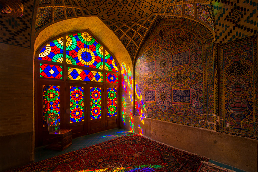 Iranian Culture「Inside the Nasir ol Molk Mosque in Shiraz, Iran」:スマホ壁紙(5)