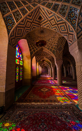 Iranian Culture「Inside the Nasir ol Molk Mosque in Shiraz, Iran」:スマホ壁紙(17)