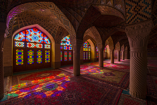 Iranian Culture「Inside the Nasir ol Molk Mosque in Shiraz, Iran」:スマホ壁紙(10)
