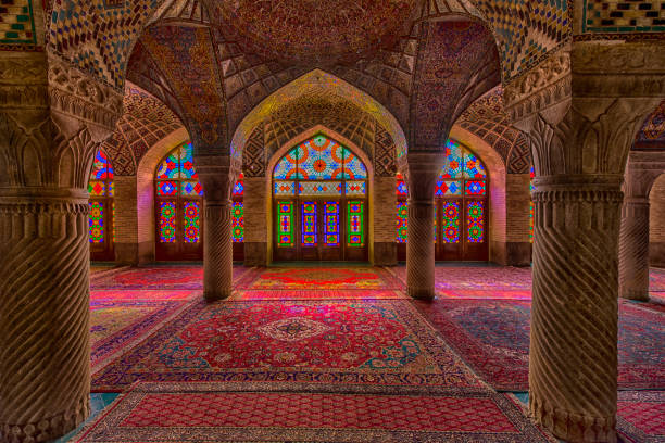 Inside the Nasir ol Molk Mosque in Shiraz, Iran:スマホ壁紙(壁紙.com)