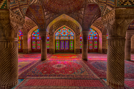 Iranian Culture「Inside the Nasir ol Molk Mosque in Shiraz, Iran」:スマホ壁紙(14)
