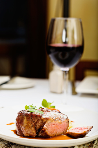 Char-Grilled「Juicy steak with glass of red wine; the perfect meal」:スマホ壁紙(3)
