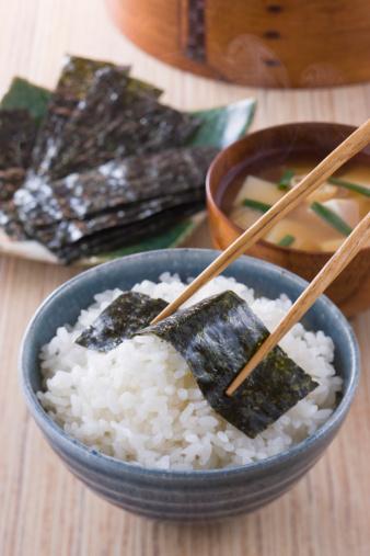 日本食「Nori on Steamed Rice」:スマホ壁紙(10)