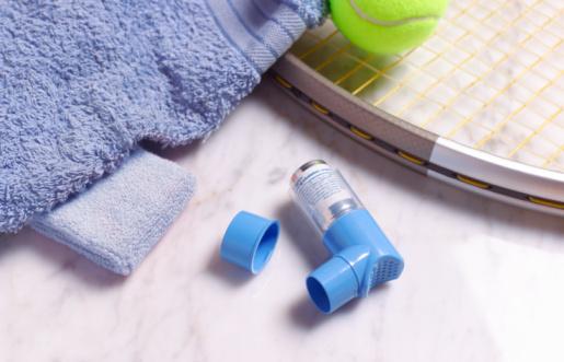 Allergy Medicine「Asthma inhaler in gymnasium」:スマホ壁紙(6)