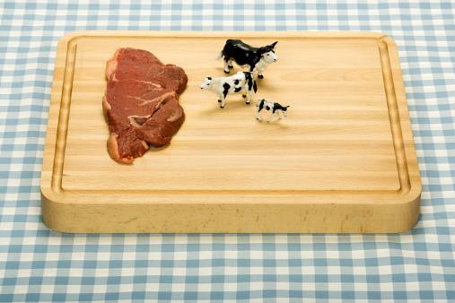 ギンガムチェック「トーイ牛のステーキ」:スマホ壁紙(16)