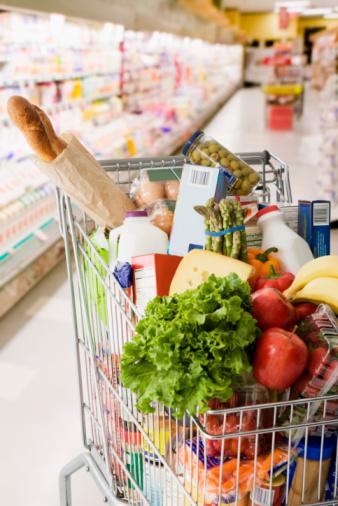 Supermarket「Grocery cart full of groceries」:スマホ壁紙(9)