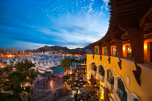 Baja California Peninsula「Restaurants and shops at the Marina in Cabo San Lucas」:スマホ壁紙(2)