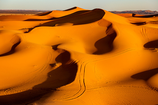 Motor Racing Track「Tire Tracks in the Desert of Sahara, Morocco, North Africa」:スマホ壁紙(8)