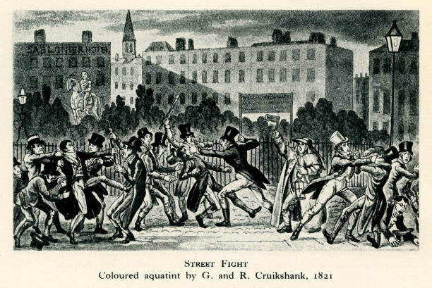 London Street Fight, early 19th century.:ニュース(壁紙.com)