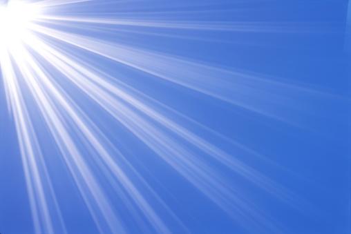 Sunbeam「Burst of light on blue background」:スマホ壁紙(0)
