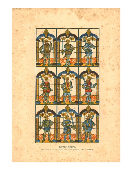 Stained Glass「Painted WindowTwo Saxon Earls Of Mercia」:写真・画像(7)[壁紙.com]