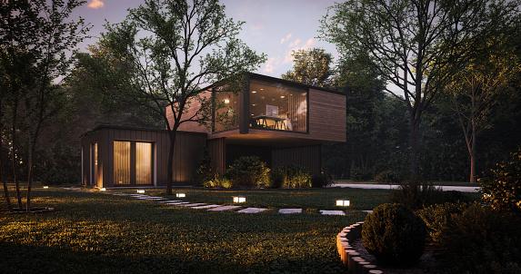 Garage「Modern Minimalist Family Villa」:スマホ壁紙(16)