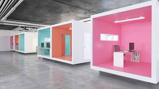 Wide Angle「Modern minimalist office interior」:スマホ壁紙(14)