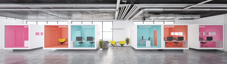 Corporate Business「Modern minimalist office interior」:スマホ壁紙(1)