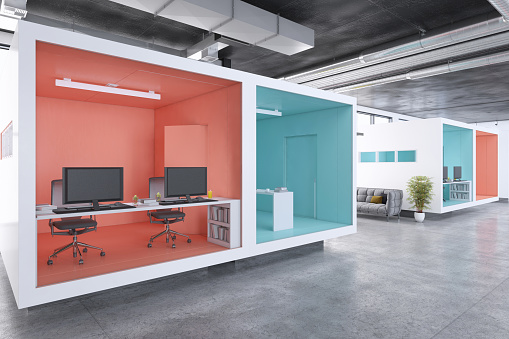 Template「Modern minimalist office interior」:スマホ壁紙(4)