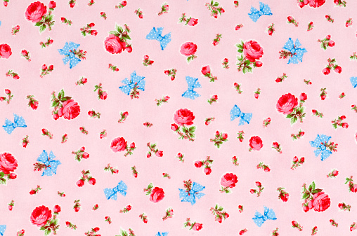 Floral Pattern「Baby Take a Bow Medium Vintage Floral Fabric」:スマホ壁紙(9)