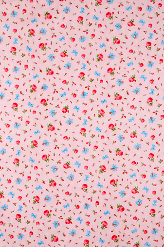 Floral Pattern「Baby Take a Bow Wide Vintage Floral Fabric」:スマホ壁紙(4)