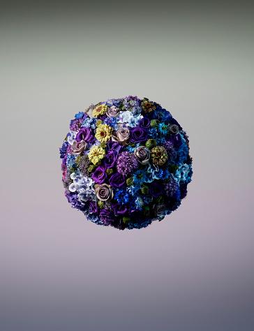 花柄「Vibrant sphere shaped floral arrangement」:スマホ壁紙(0)