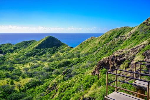 オアフ島「View from near top of Diamond Head Hawaii」:スマホ壁紙(17)