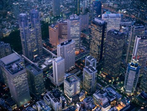 Shinjuku Ward「Shinjuku high-rise complex」:スマホ壁紙(19)