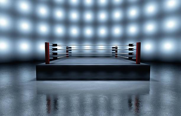Empty boxing ring arena:スマホ壁紙(壁紙.com)