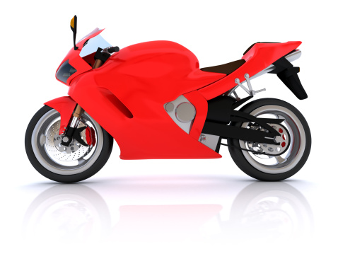 Motorcycle「Red and black motorcycle on a white background」:スマホ壁紙(1)