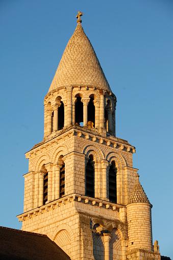 Nouvelle-Aquitaine「Notre Dame la Grande church, Poitiers : spire」:スマホ壁紙(8)