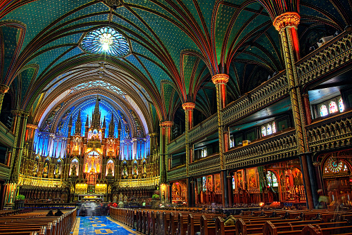 Gothic Style「Notre Dame Cathedral in Montreal, Canada」:スマホ壁紙(4)