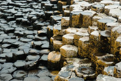 Basalt「Wet Stone Steps At Various Levels Covered In Lichen」:スマホ壁紙(15)