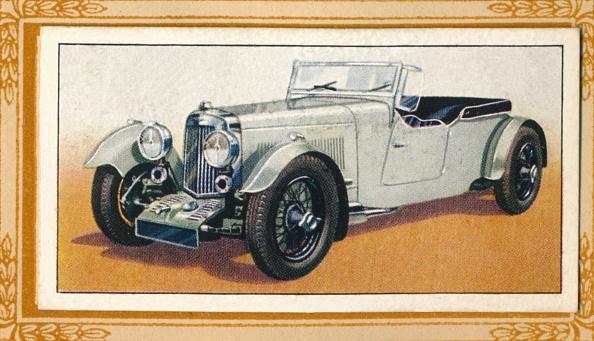 Cigarette Card「Aston Martin Four-Seater Tourer, C1936」:写真・画像(6)[壁紙.com]