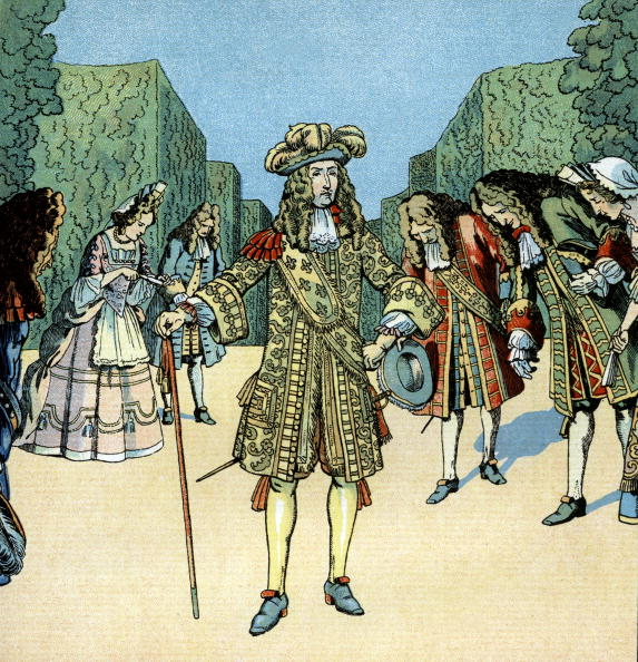 Louis XIV Of France「Louis XIV (1638-1715) french king in 1643-1715, here in gardens of Versailles with courtesans, illustration by Job, 1930」:写真・画像(9)[壁紙.com]