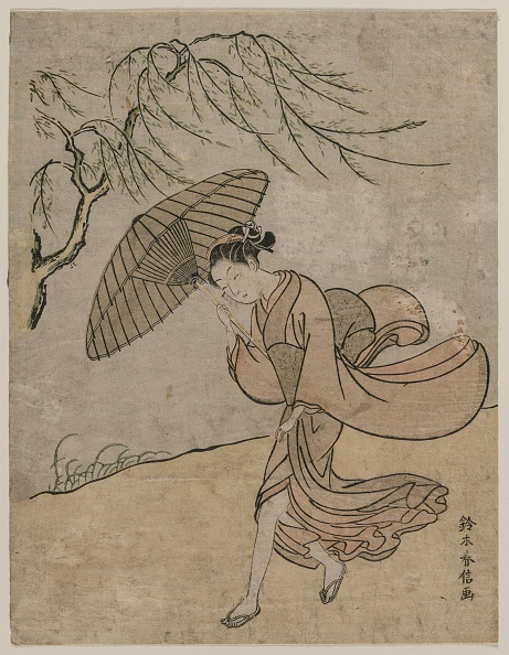 Deciduous tree「Woman Running Past A Willow Tree In A Breeze」:写真・画像(10)[壁紙.com]