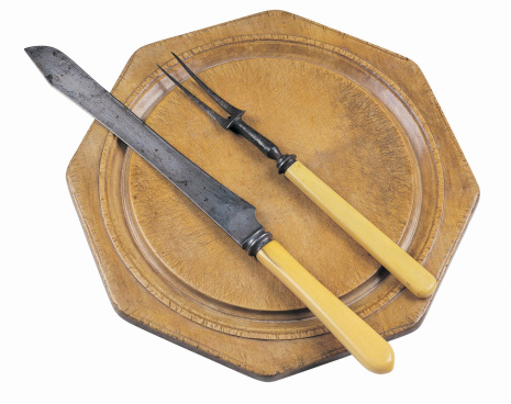 Carving Knife「Cutting Board with serving knife and fork」:スマホ壁紙(12)