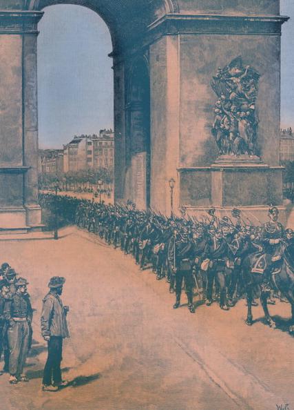 Arc de Triomphe - Paris「Franco - Prussian War: Prussian troops in Paris」:写真・画像(13)[壁紙.com]