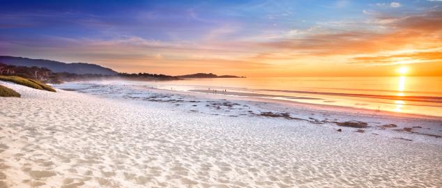 ビーチ「カーメルビーチのパノラマビューが、カーメル、海」:スマホ壁紙(16)
