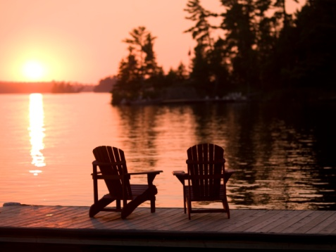 Deck Chair「Lake of the Woods, Ontario, Canada, Adirondack chairs」:スマホ壁紙(0)