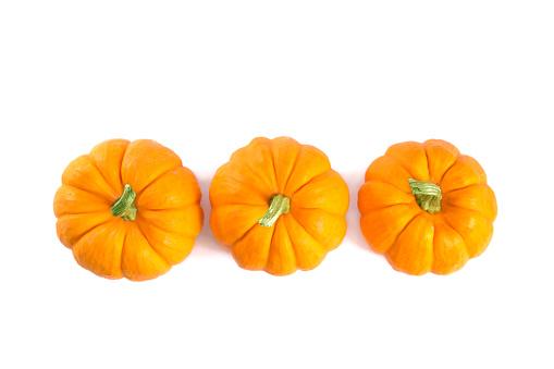 Pumpkin「Top view of decorative orange pumpkins」:スマホ壁紙(4)