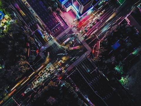 Walking「Top View of City Street Crossing at Rush Hour」:スマホ壁紙(17)