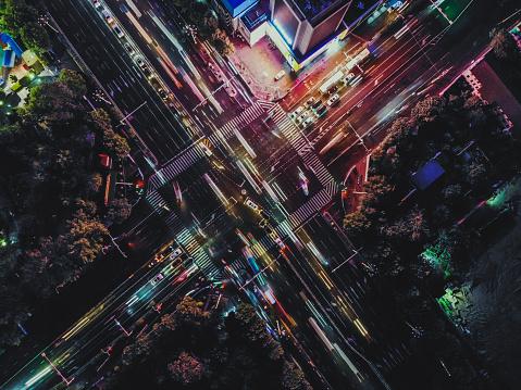 Walking「Top View of City Street Crossing」:スマホ壁紙(8)