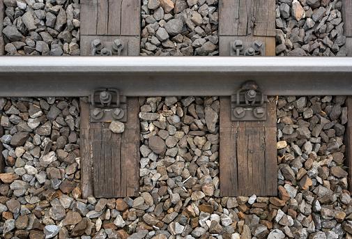 Rusty「Top view of railroad track and railway sleeper」:スマホ壁紙(19)