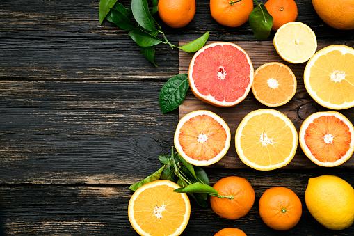 Mint Leaf - Culinary「Top view of sliced citrus fruits」:スマホ壁紙(7)