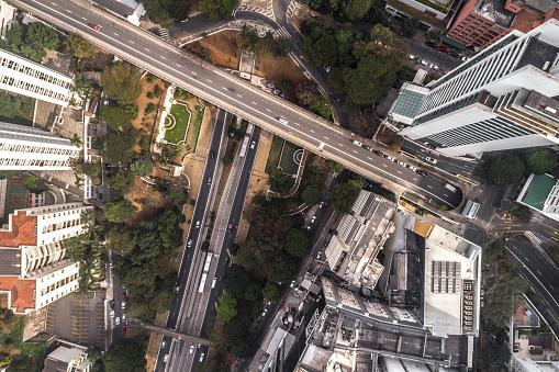 Avenida Paulista「Top View of Avenida Nove de Julho in Sao Paulo city, Brazil」:スマホ壁紙(11)
