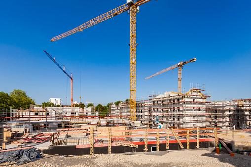 Stuttgart「Germany, Stuttgart, New Buildings, construction site, house building」:スマホ壁紙(5)