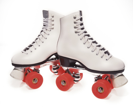 Roller skate「Pair of roller-skates on white background」:スマホ壁紙(3)