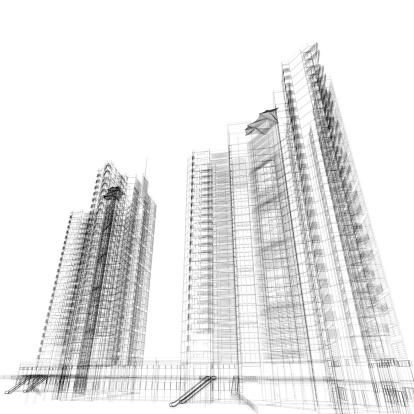 Engineer「Apartment Wireframe」:スマホ壁紙(1)