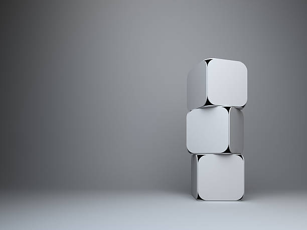 abstract 3d rectangles design background:スマホ壁紙(壁紙.com)