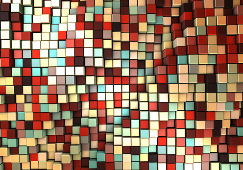 Data Center「Abstract 3d background with different cubes」:スマホ壁紙(7)